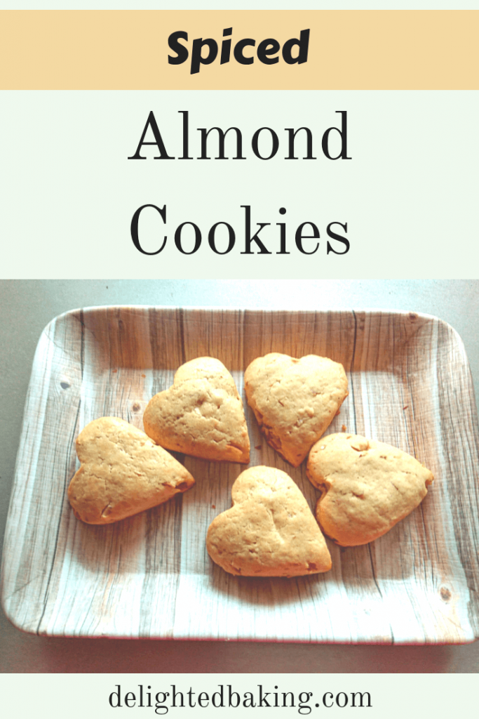Spiced Almond Cookies - Easy to make spiced almond cookies are perfect for tea time. #egglesscookies #egglessbaking