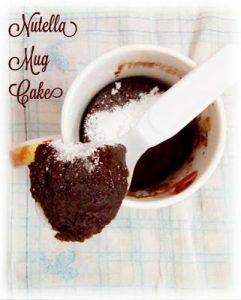 Nutella Mug Cake (Microwave Mug Cake)