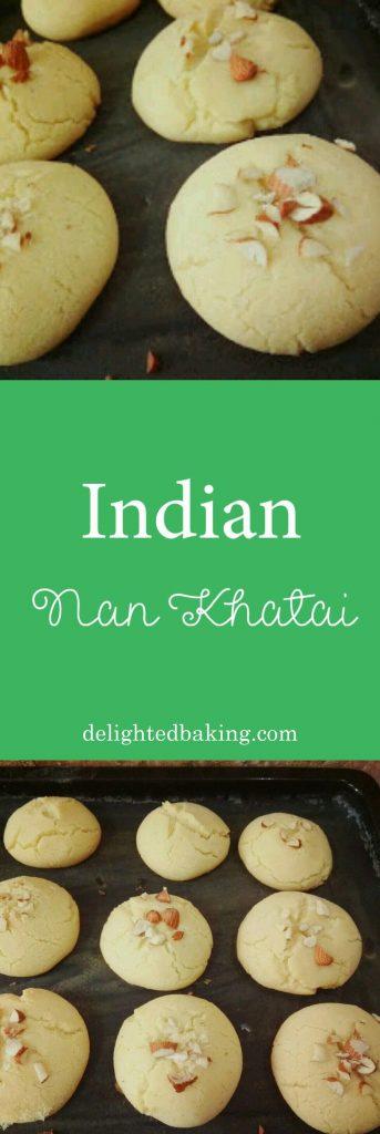 Indian Nan Khatai - Famous Indian cookies. #cookies #egglesscookies