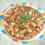 Indian Style Macaroni is a perfect Indian snack. Full of Indian flavour and spices, this macaroni can be served as an evening snack or in school lunch.