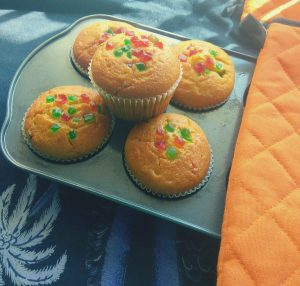 Orange Tutti frutti Muffins