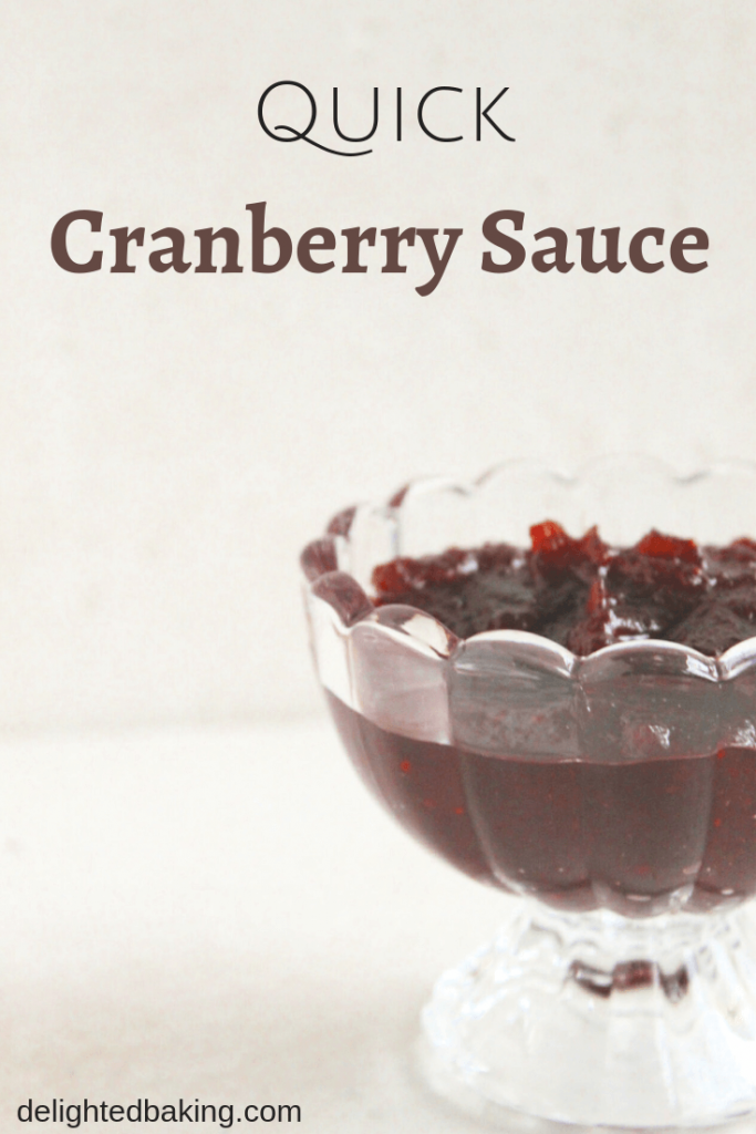 Quick Cranberry Sauce using dried cranberries. Enjoy it with a bread toast or add it on a scoop of vanilla ice-cream. Homemade Cranberry Sauce can't get easier than this!