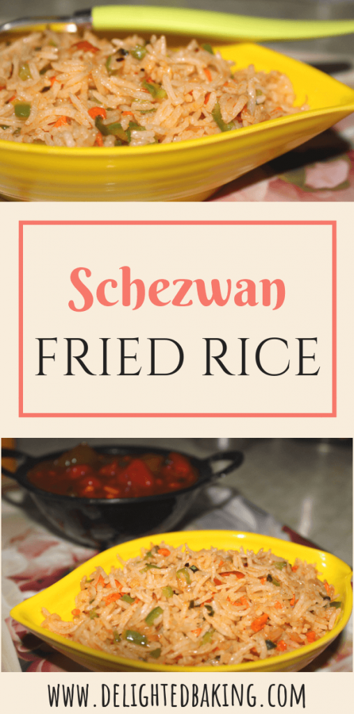 Schezwan Veg Fried Rice : Prepare restaurant style schezwan fried rice quickly and easily at home!