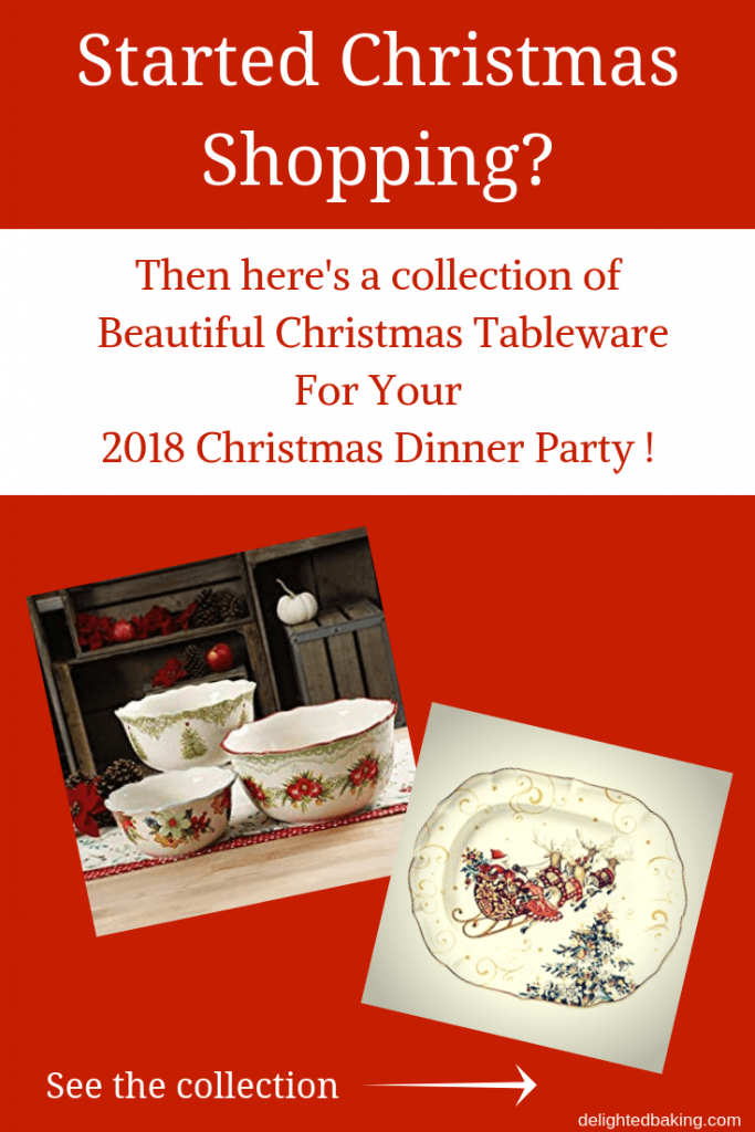 Collection of Christmas tableware & serveware : Includes serving bowls, plates, dinner sets, glasses, platters etc. Brighten up your Christmas table with these beautiful masterpieces!
