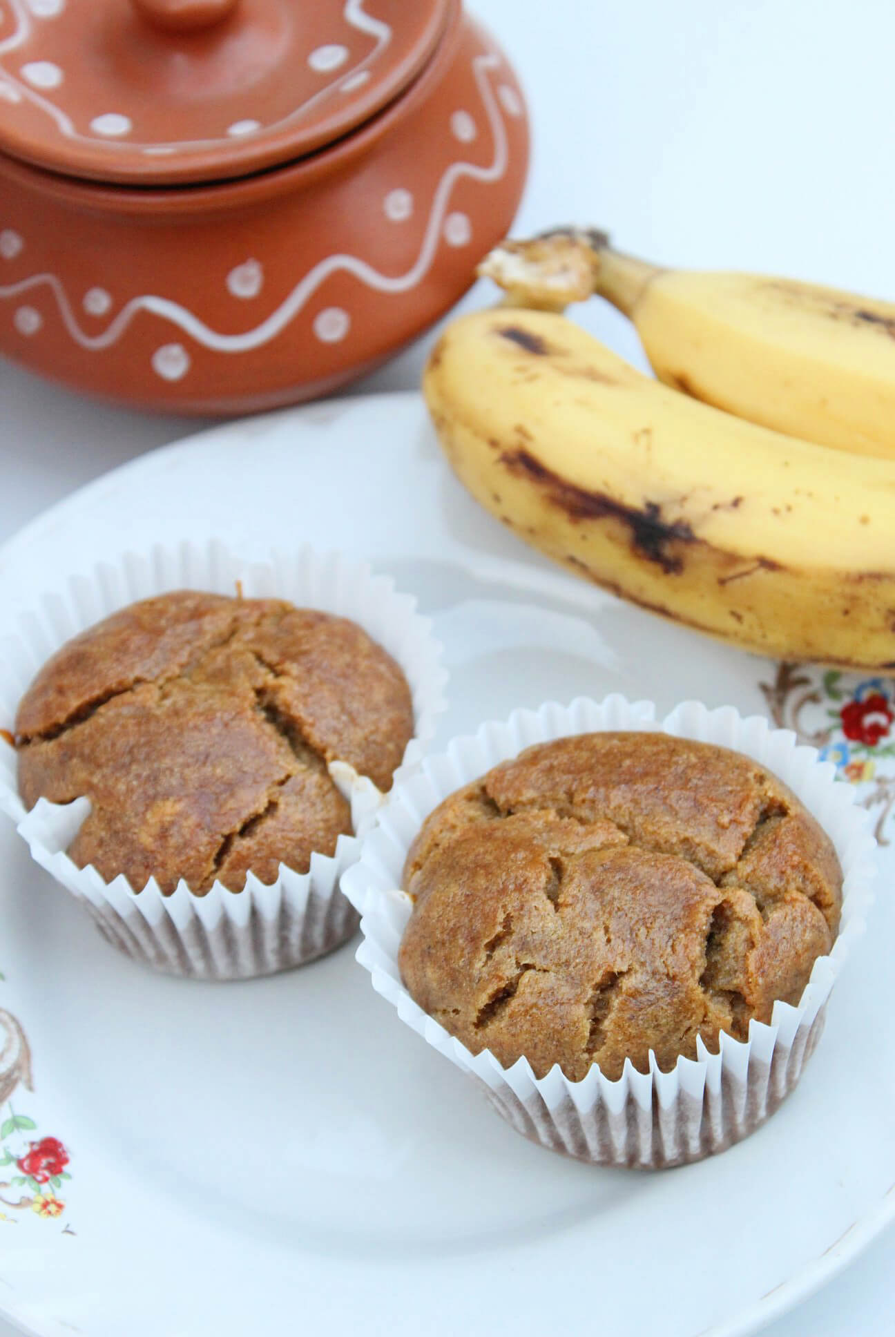 Eggless Banana Muffins With Yogurt: Bake these classic egg free banana muffins as soon as possible! They are soft, moist and full of flavors!!!