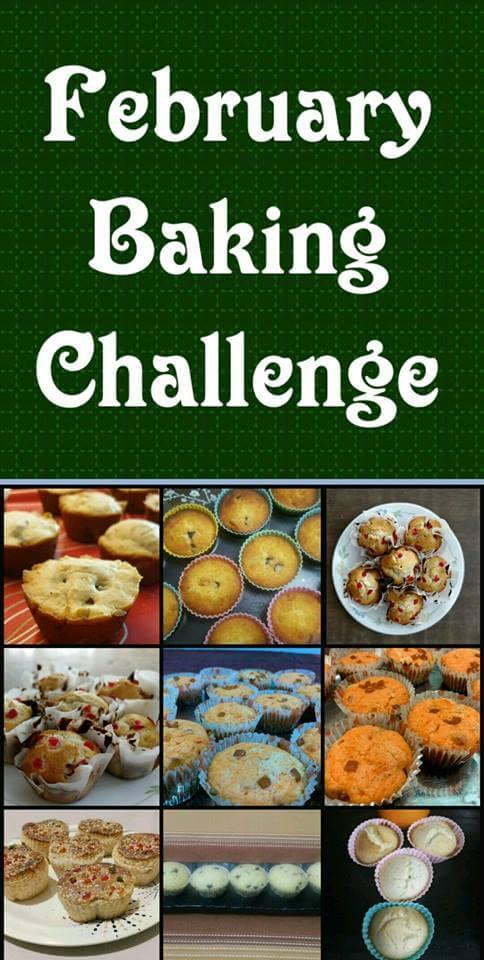February baking challenge - Eggless tutti frutti muffins