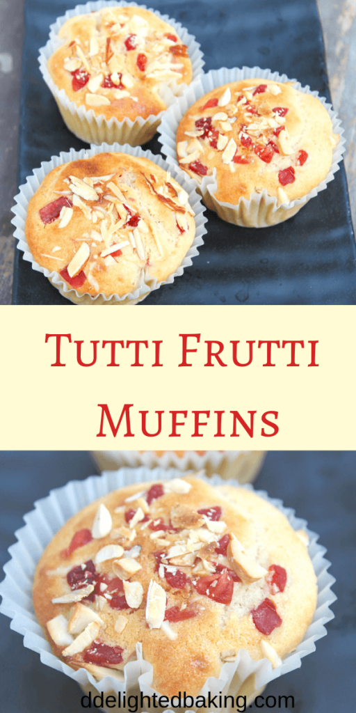Eggless tutti frutti muffins : easy and basic eggless muffin recipe. #eggless #egglessbaking #egglessmuffins #egglessmuffinrecipe